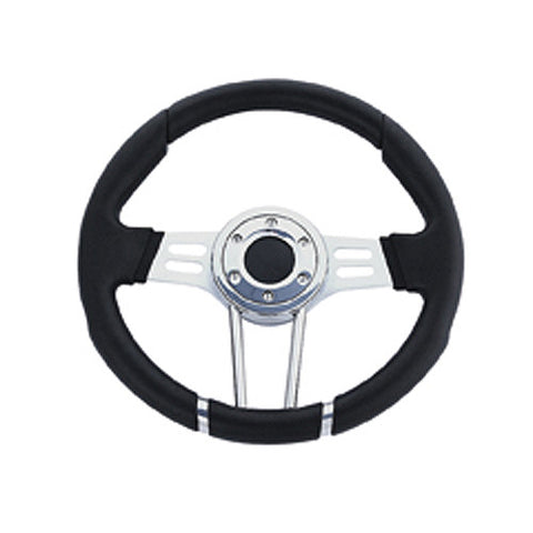 12.5 Aviator Black Rim Steering Wheel