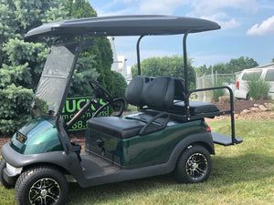 Dark Green  Club Car Precedent Refurbished Four Passenger Electric Golf Cart