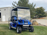 Ezgo Txt Electric Custom Blue  Four Passenger
