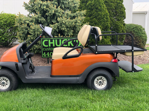 Club Car Precedent Orange  Refurbished Four Passenger Electric Golf Cart