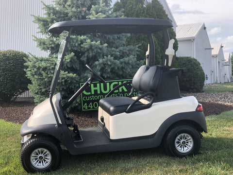 White  Club Car Precedent Refurbished Two Passenger Electric Golf Cart