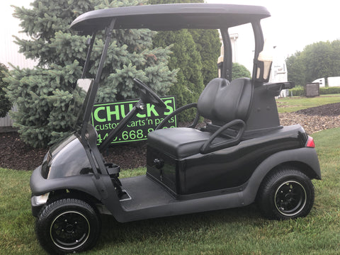 Black   Club Car Precedent Refurbished Two Passenger Electric Golf Cart
