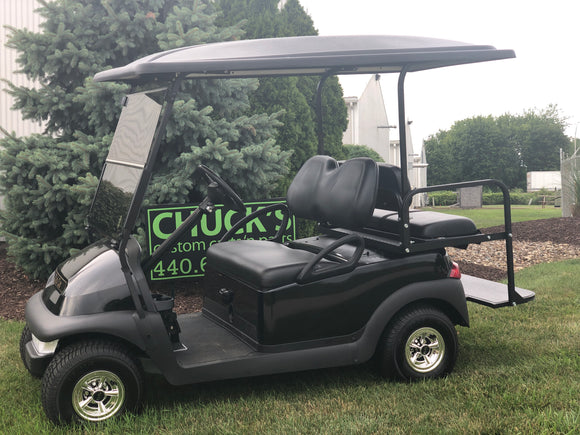 Black  Club Car Precedent Refurbished Four Passenger Electric Golf Cart