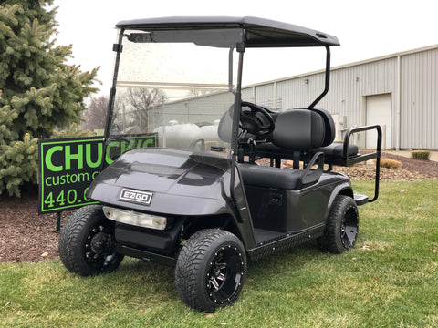 Ezgo Electric Custom Gunmetal  Four Passenger Golf Cart