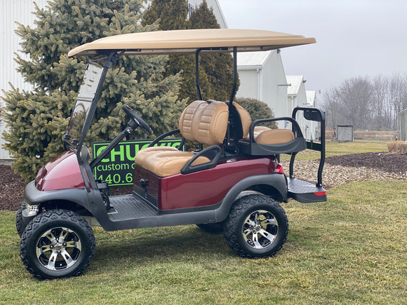 2012 Club Car Precedent Electric Lifted Four Passenger Golf Cart