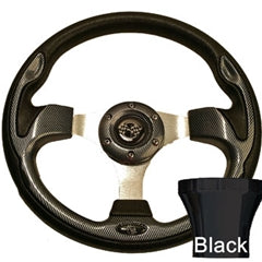 12.5 Carbon Fiber Rally Steering Wheel Black Adaptor Kit
