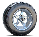 "Fairway Alloy 12"" Rallye Aluminum Polished Wheel & Tire Combo"