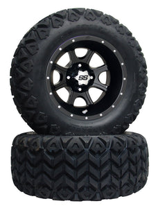 "12"" SS Black 108 On 23/10.5/12 All Terrain Tire"