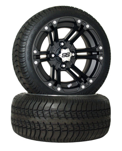 "12"" Black 212 Wheel On Low Profile Street Tire "" Free Shipping"""