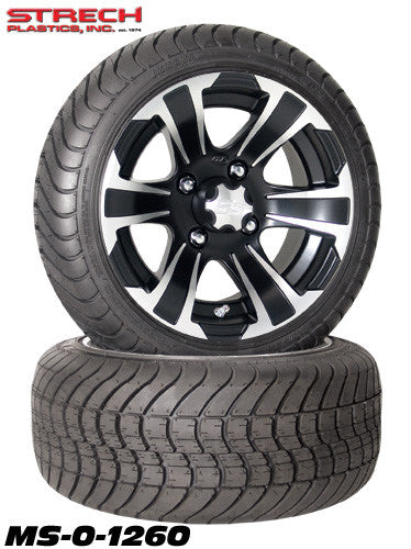 12x7 SS 312 ITP Machined n Black Tire & Wheel Combo