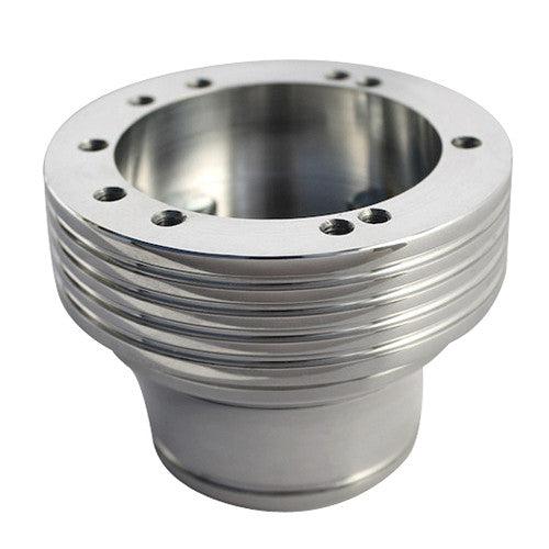 Billet Polished With Grooves Steering Wheel Adapter