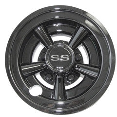 "8"" Black Chrome SS Wheel Cover ""Free Shipping"""