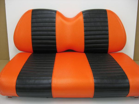 Club Car Orange  w/ Black Vinyl  Seat Covers