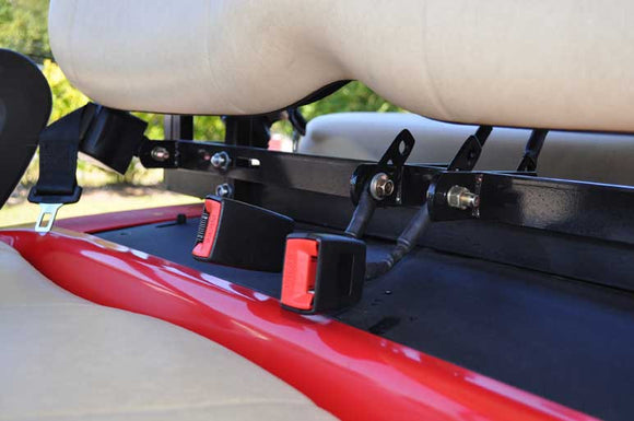 Golf Cart Seat Belt Bracket With Four Retractable Seat Belts