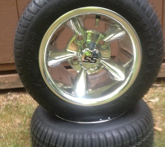 10x7 Polished Aluminum Godfather On Street Tire