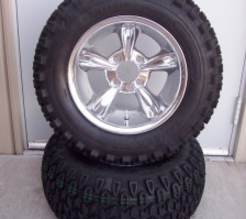 10x7 Polished Godfather on All terrain Tire