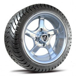 "Fairway Allow 12"" Rallye Aluminum Polished Wheel & Tire Combo"