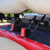 Golf Cart Seat Belt Bracket w/ Two Retractable Seat Belts