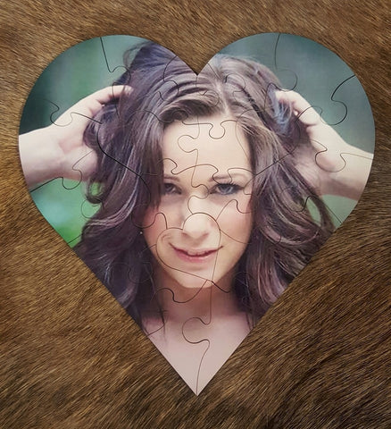 Boondock Outdoors  Custom imaged heart shaped wooden puzzle