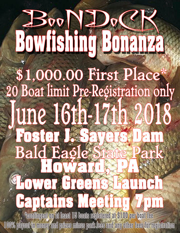 2018 Boondock Bowfishing Bonanza boat registration fee