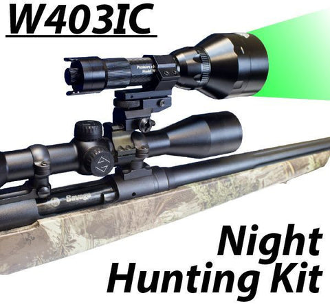 Wicked Lights W403IC Night Hunting kit GREEN