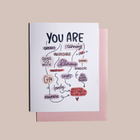 All Good Things Flowchart greeting card