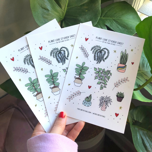 Plant Love sticker sheet 1