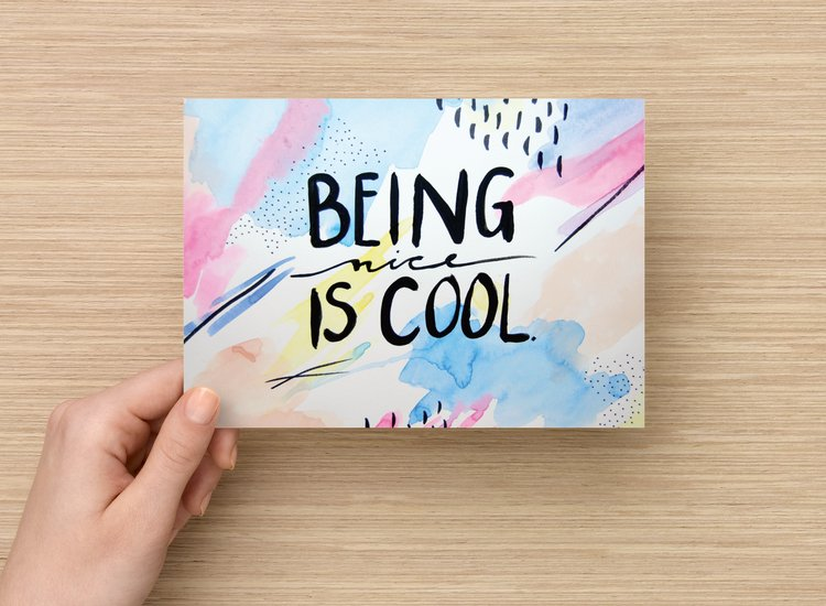 Being Nice is Cool art print