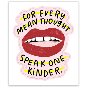 Speak One Kinder sticker
