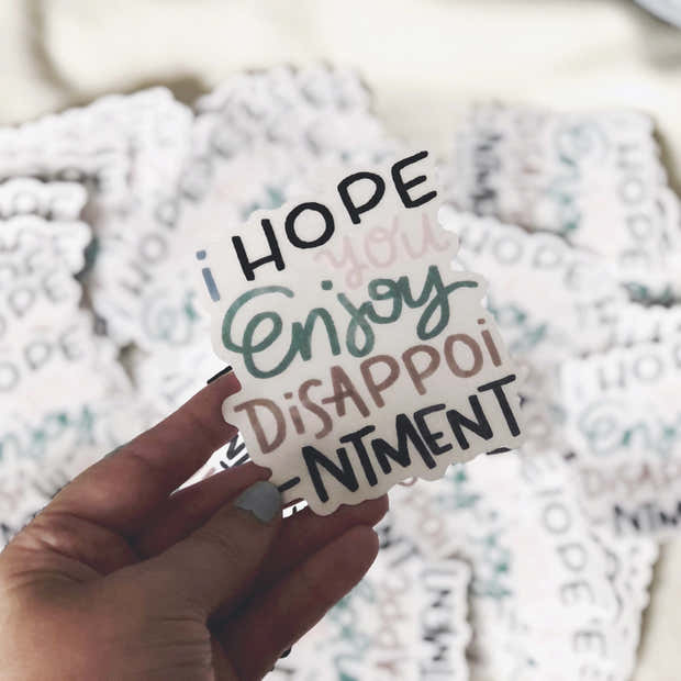 Disappointment sticker 1