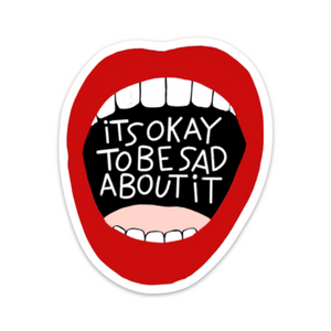 Sad Mouth sticker