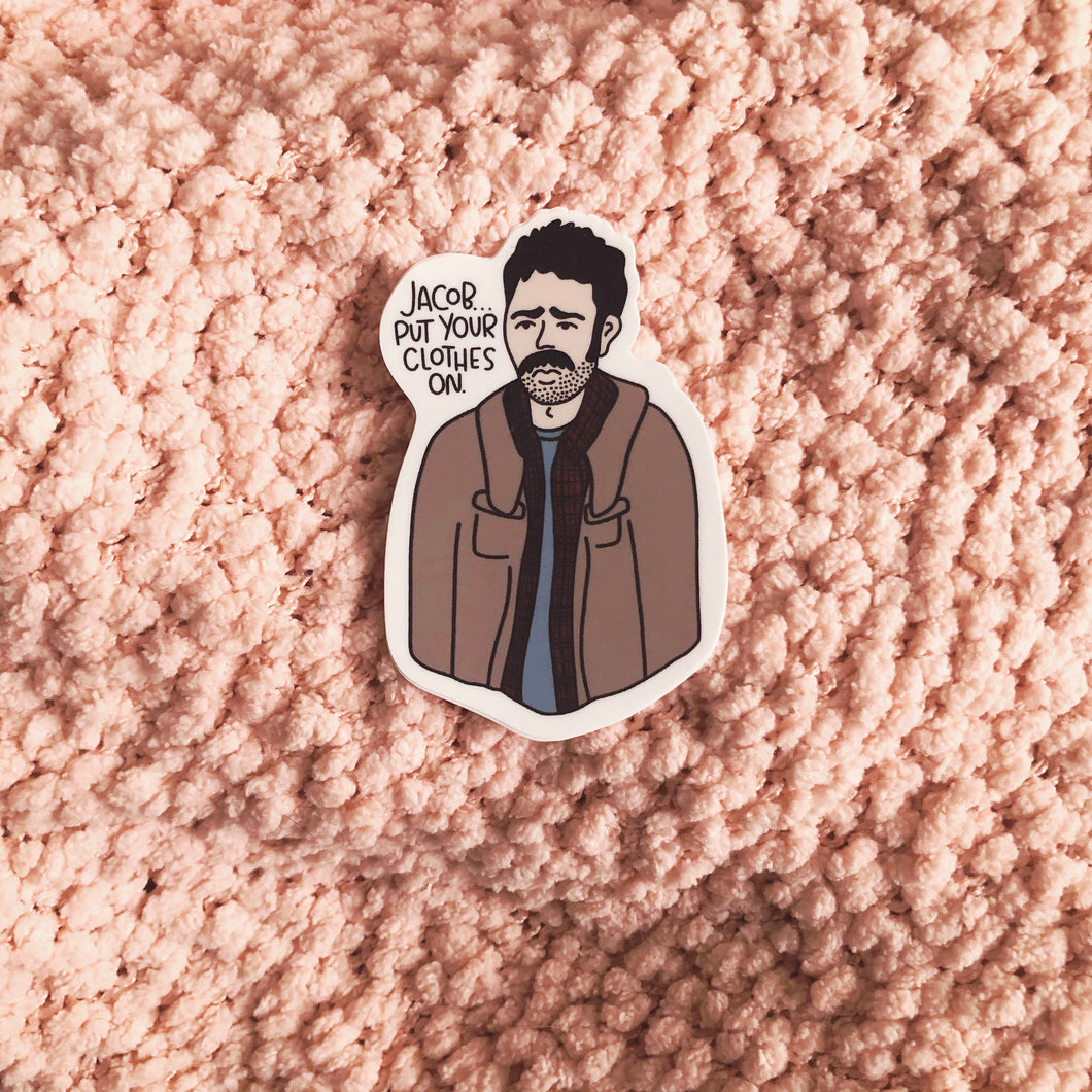 Exhausted Charlie sticker
