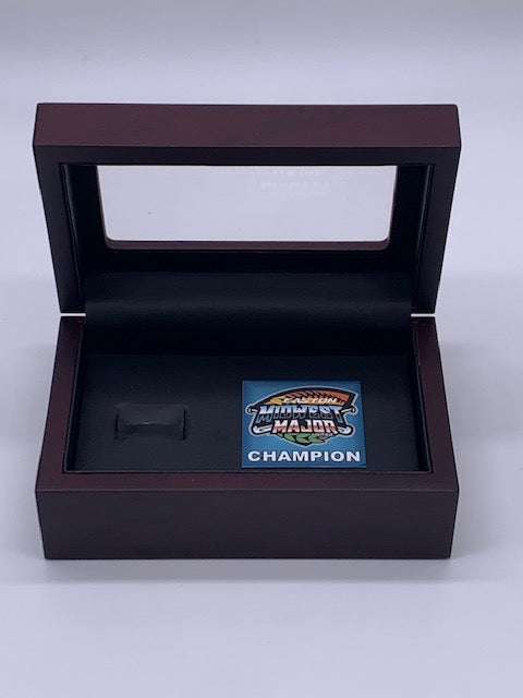MIDWEST MAJORS BASEBALL RING BOX