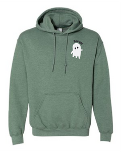 BOO YA HOODIE - HEATHER DARK GREEN