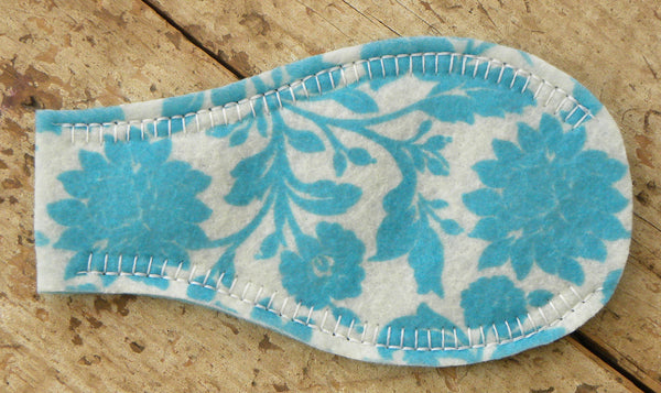 Printed Eye Patch - Floral (Blue)