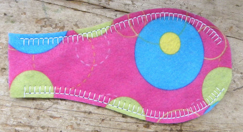 Printed Eye Patch - Bubbles (Pink)