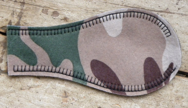 Printed Eye Patch - Brown Camo