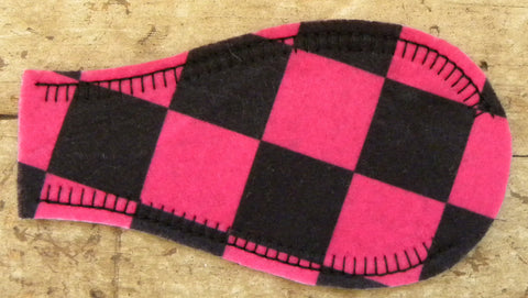 Printed Eye Patch - Checkers (Pink & Black)