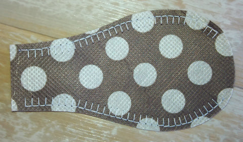 NON-FELT Eye Patch - Gray Polka