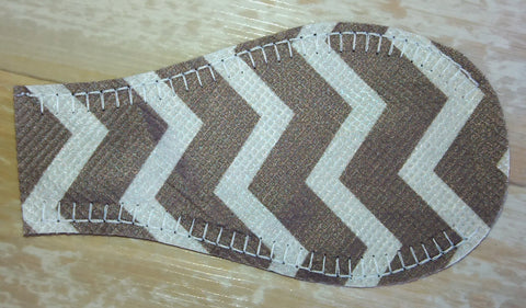 NON-FELT Eye Patch - Gray Zig-Zag