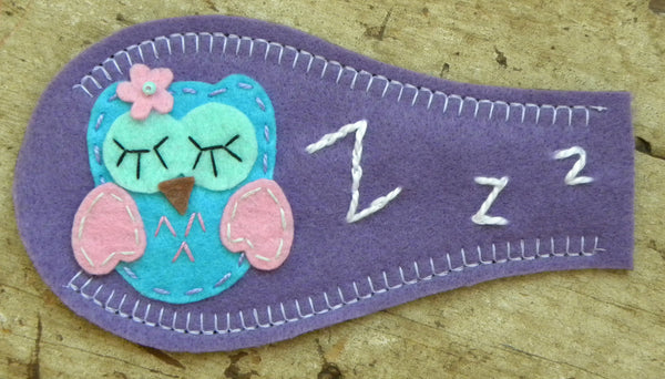 Eye Patch - Sleepy Owl (only size small)
