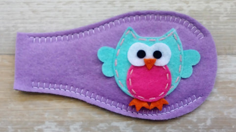 Eye Patch - Owl on Light Purple