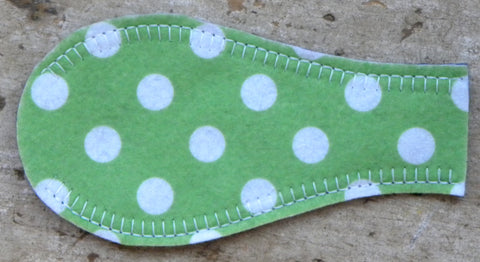 Printed Eye Patch - Polka Green
