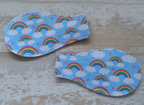 Printed Eye Patch - Rainbow and Hearts