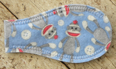 Printed Eye Patch - Sock Monkeys
