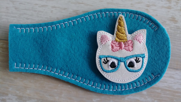 Eye Patch - Unicorn With Eyeglasses- (2 Color Options)