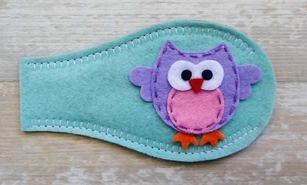 Eye Patch - Owl on Teal