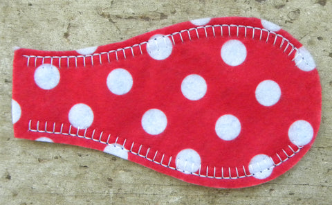 Printed Eye Patch - Polka Red