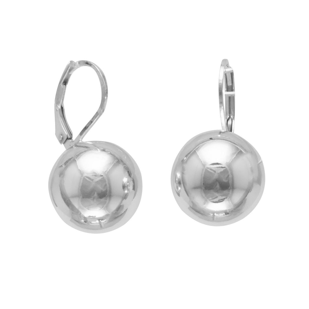 14mm Ball Earring on Lever Back