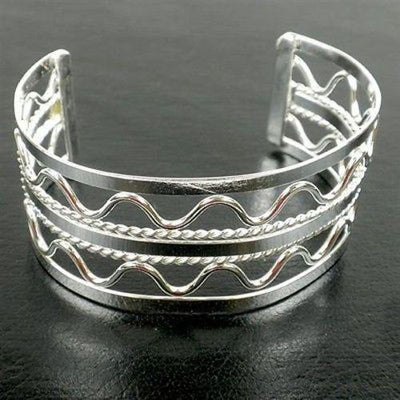 Silver Overlay Cuff - Wave Handmade and Fair Trade